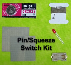 Image of eTextile LED Pin/Squeeze Switch Kit