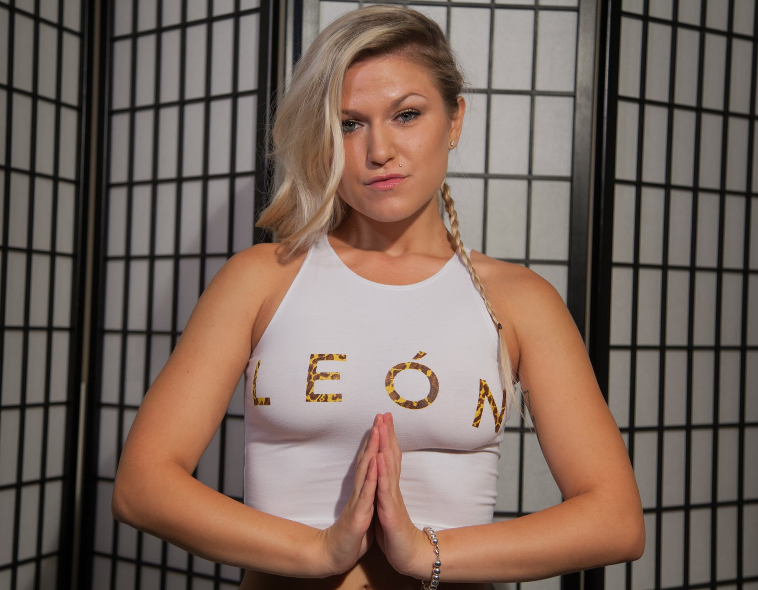 "Image of Women's ""León"" White/Cheetah Crop"