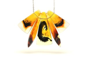 Image of Tortoiseshell Anvil and obelisk Necklace