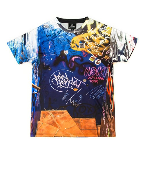 Image of Anthen x Dog Harajuku <br/>Wall Graffiti Men's T-shirt