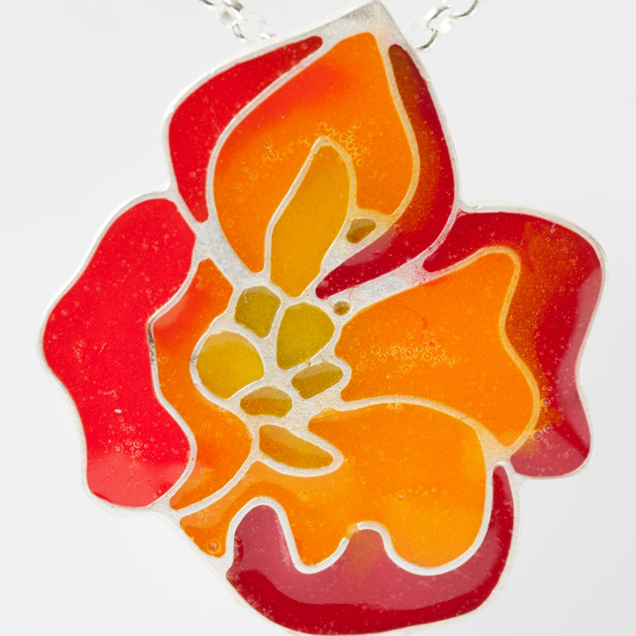 Image of Resinate Poppy Pendant