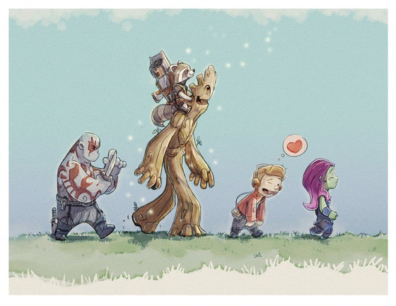Image of Guardians of the Galaxy Print