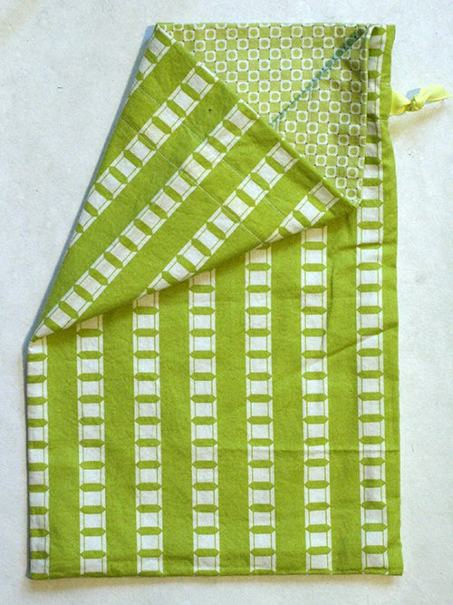 Image of Yellow/Green Spools Project Bag
