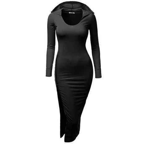 Image of Fitted Dress W/ Side Zip - Black
