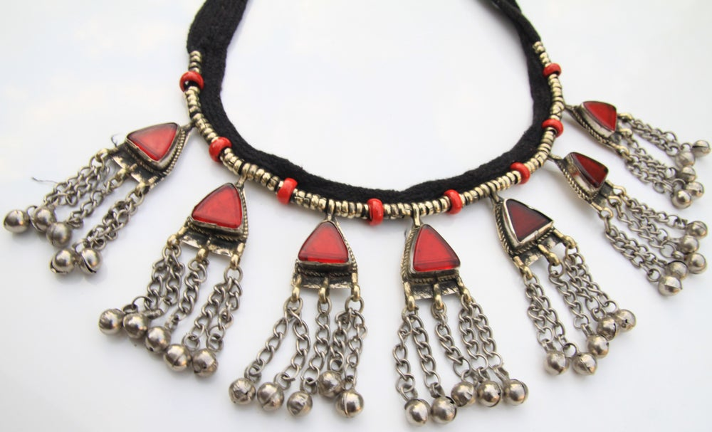 Image of Red gypsy roots necklace