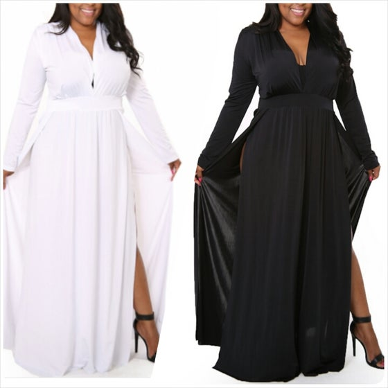 """Image of """"Gone with the Wind""""Double Split Maxi"""