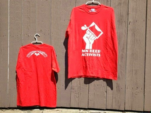 Image of MN Beer Activists Red Shirt