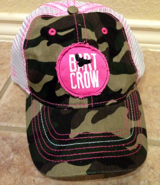 Image of Girls camo & pink trucker hat