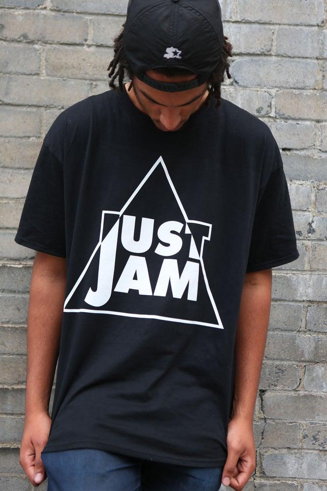 Image of Just Jam White on Black