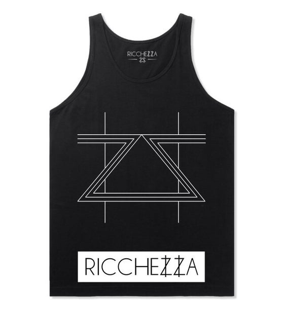 """Image of """"New Age Double Z"""" Tank (Black/White)"""