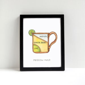Moscow Mule Cocktail Diagram Print by Alyson Thomas of Drywell Art. Available at shop.drywellart.com