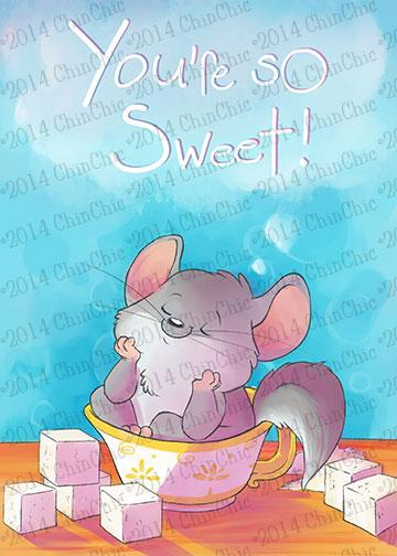 Image of Custom Chinchilla All-Purpose Greeting Cards