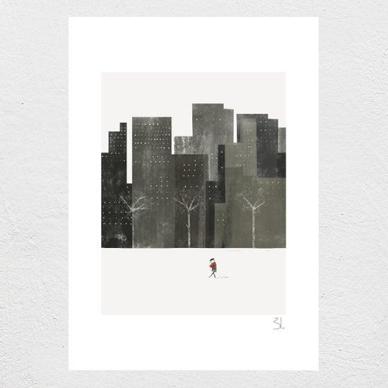Image of Winter City Print