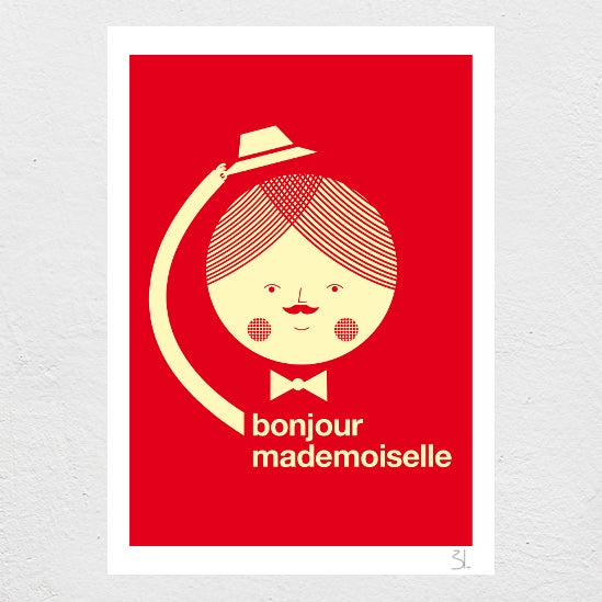Image of Bonjour Mademoiselle Print