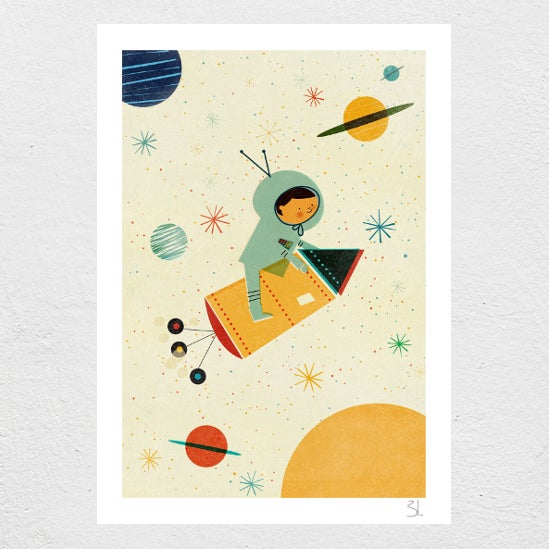 Image of Let's travel Print