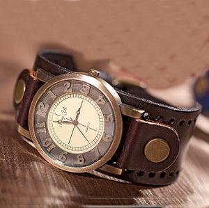 Image of Handmade Vintage Watch / Wrist Watch / Leather Watch / Men's Quartz Watches (WAT00255-Brown)