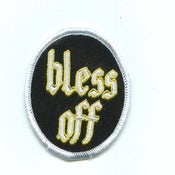 Image of The Shrine - Bless Off Round Patch Silver/Yellow
