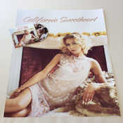"Image of ""California Sweetheart"" LIMITED EDITION POSTER and ""California Sweetheart""  CD  BUNDLE"