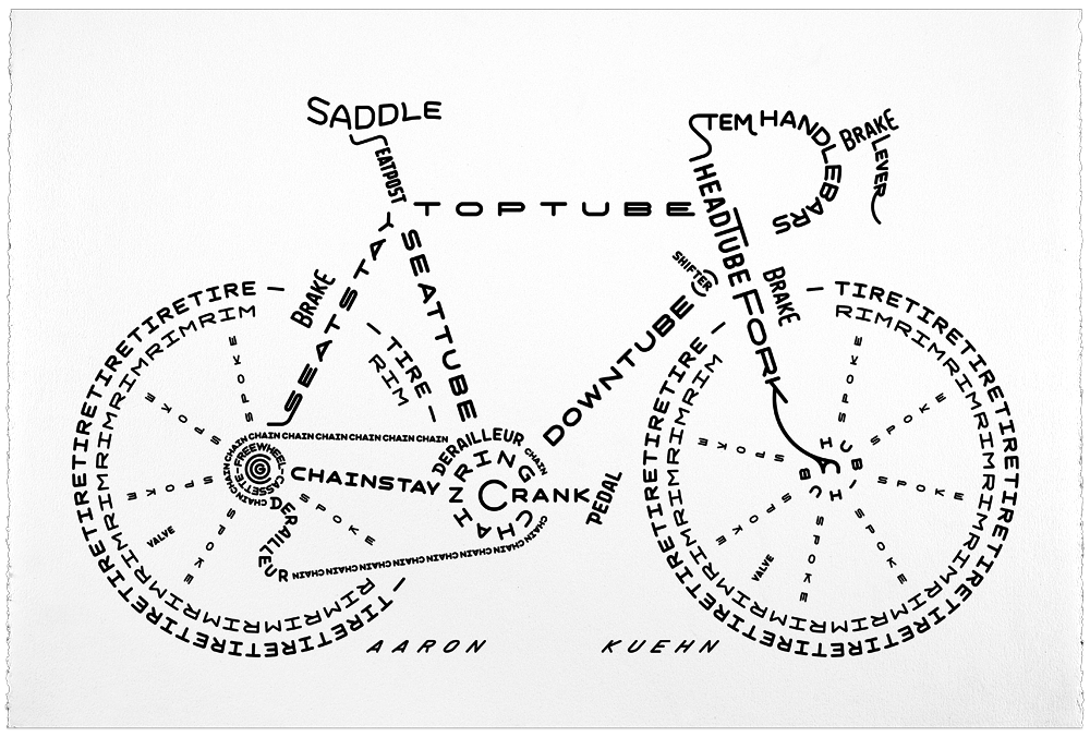 Image of Bicycle Typogram - Print