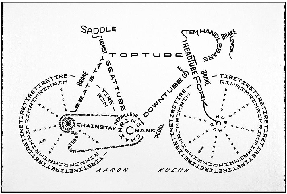 Image of Bicycle Typogram - Print