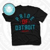 Image of Pride of Detroit Black (Red/Teal) Tee