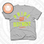Image of Pride of Detroit Grey (Orange/Volt) Tee