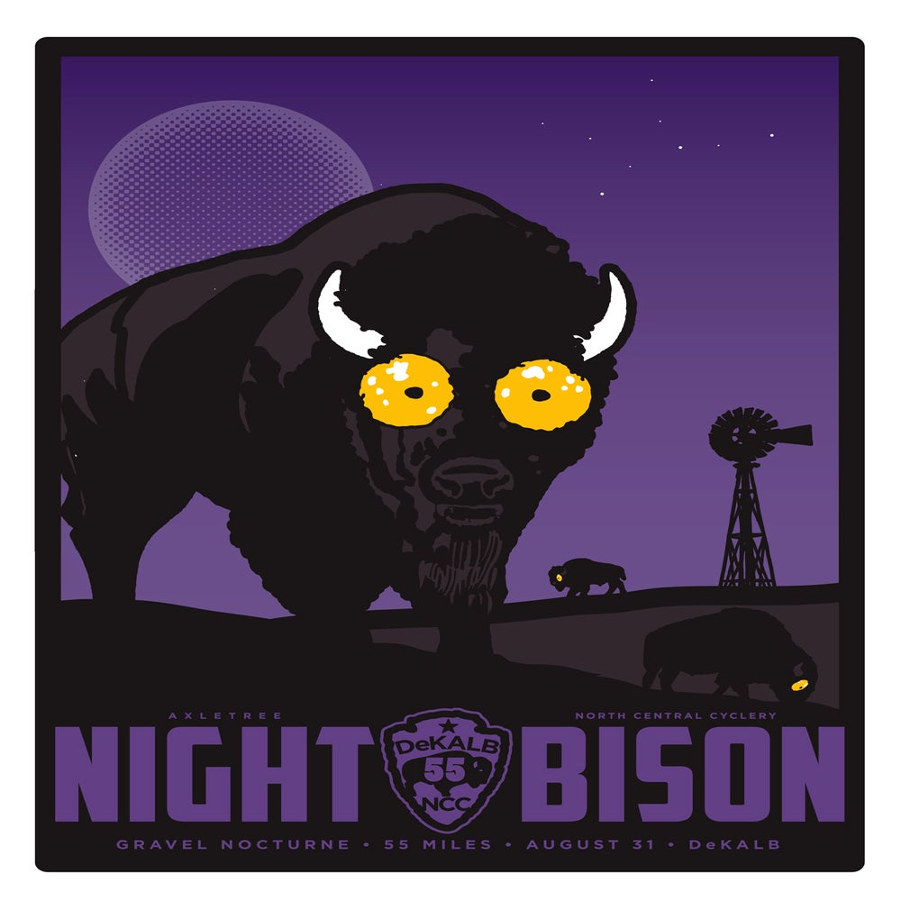 Image of NIGHT BISON JAKE EARLY PRINT Leftover Sale