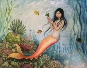"""Image of """"Mama Mermaid"""" by Cynthia Thornton PRINT"""