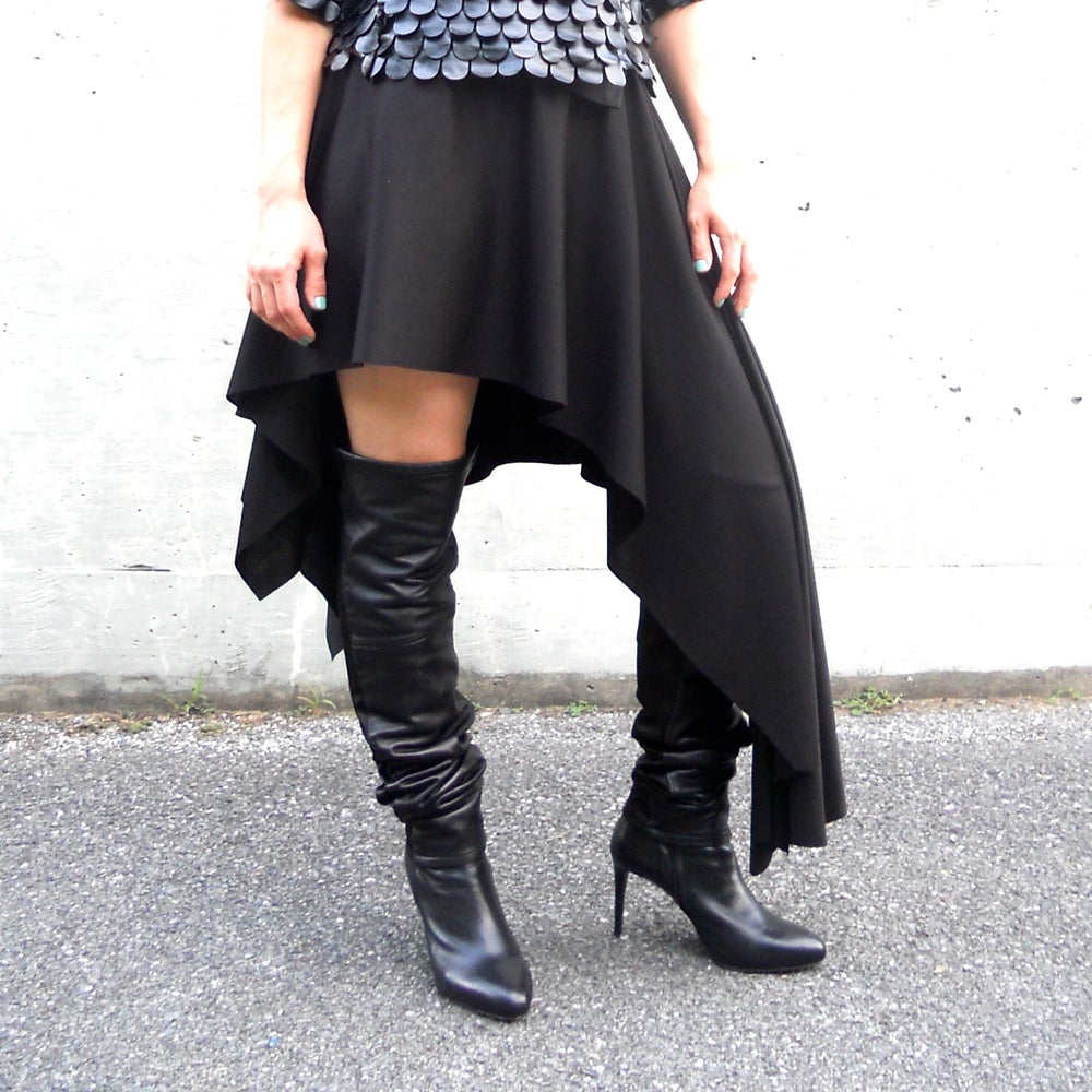 Image of Maria Severyna Asymmetric Pancho Skirt Wrap
