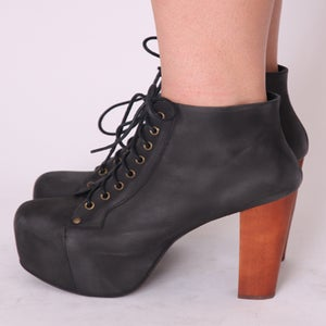 Image of JEFFREY CAMPBELL LITAS - SIZE 7 US - BLACK LEATHER
