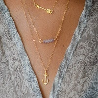 Image of Vermeil Gold Anchor Necklace
