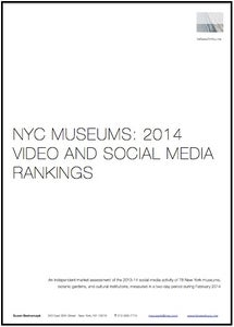 Image of NYC Museums: 2014 Video and Social Media Rankings