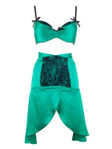 Image of Emerald DeVille Suspender Skirt KMD