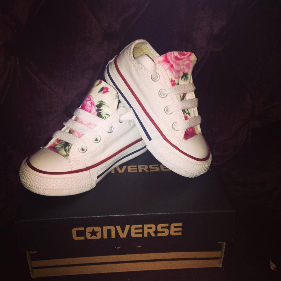 Image of Infant and Junior Floral Converse