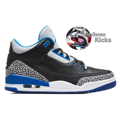 "Image of Jordan Retro 3 ""Sport Blue"" Preorder"