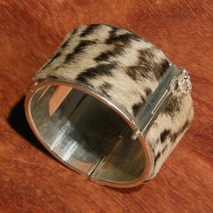 Image of Zebra and Sterling Silver Cuff