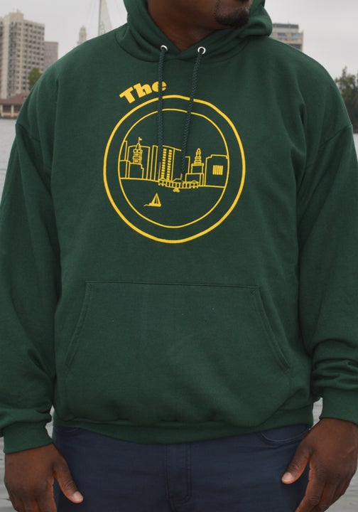 Image of Forest Green & Yellow Hoodie