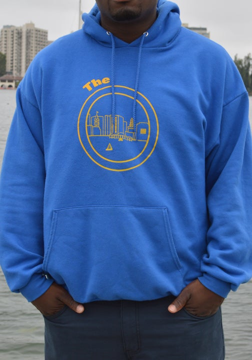 Image of Royal Blue and Yellow Hoodie
