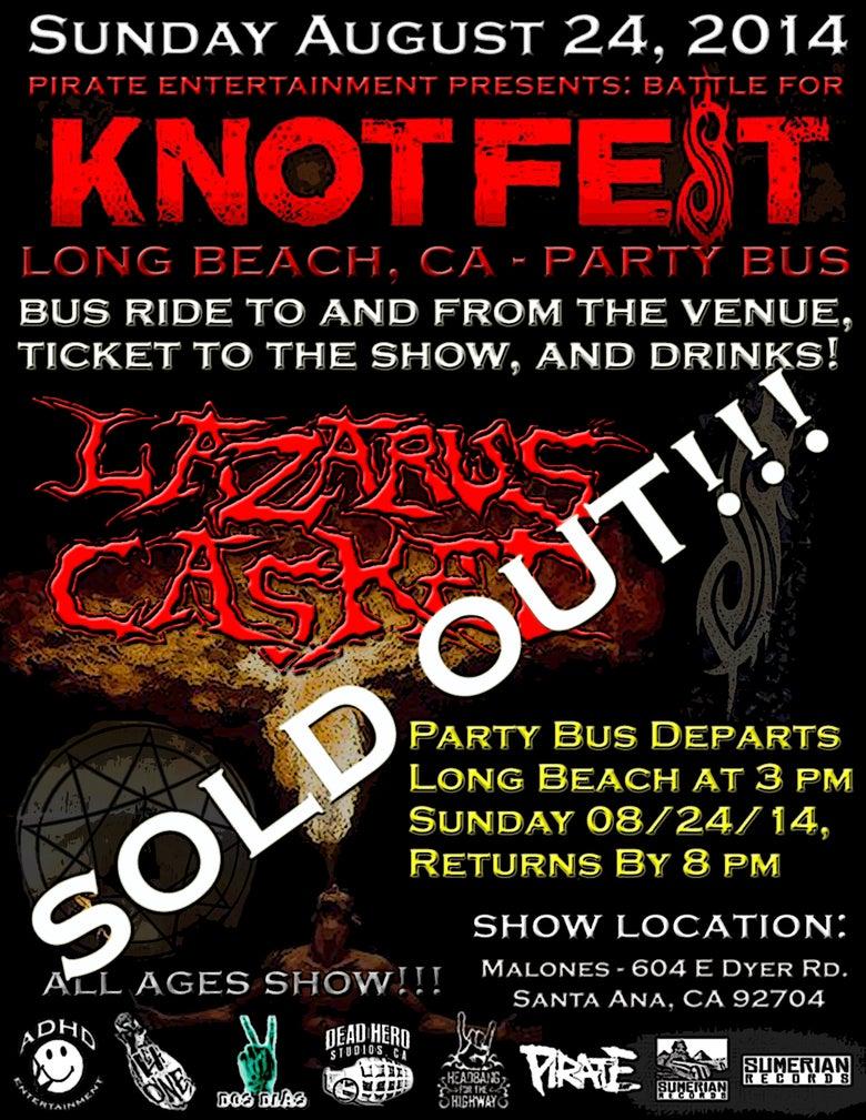 Image of Lazarus Casket BATTLE FOR KNOTFEST Party Bus!