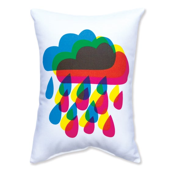Image of Rainy Day Rainbow Cushion