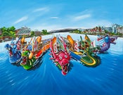 Image of Dragon Boat Festival 16x24 Giclee on Canvas