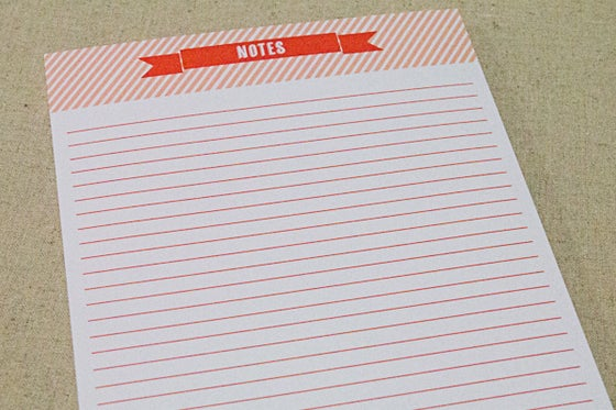 Image of A5 Notepad Tangerine - 50 pages