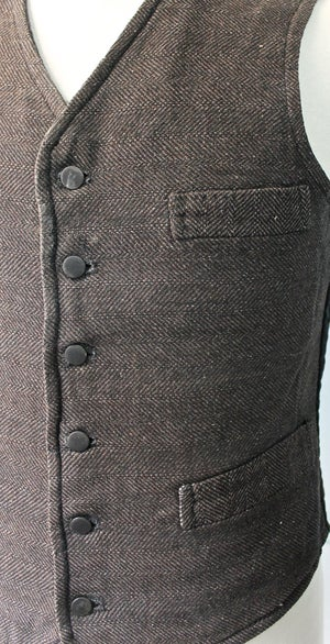 Image of 1930'S FRENCH WOOL WAISTCOAT FADED