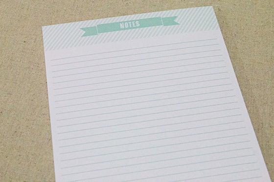 Image of A5 Notepad Mint - 50 pages
