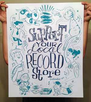 Image of Support Your Local Record Store Print