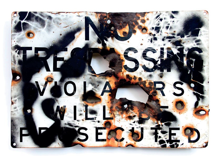 Image of 'No Trespassing' - William S Burroughs - Limited Edition Print