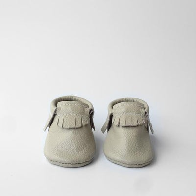 Image of Vanilla Leather Moccasins