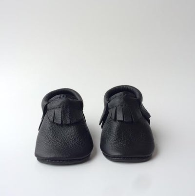 Image of (pre-order) Onyx Leather Moccasins