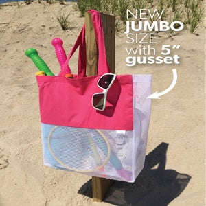 Image of {NEW GUSSET} Hello Beach Jumbo Gusset Bag
