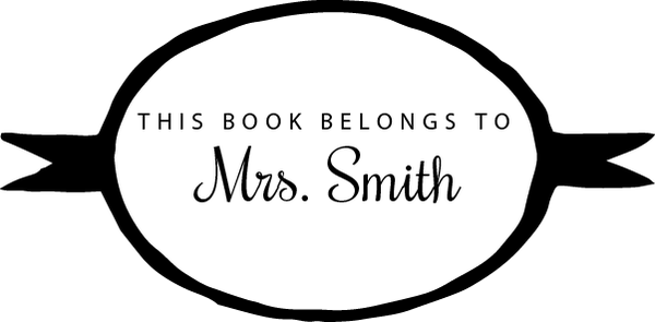 Image of This Book Belongs to Personalized Stamp 1